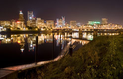 cityscapeoregon portland sikt Arkivbild
