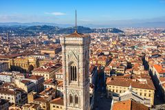 Cityscapepanorama av i Florence, Tuscany, Italien Sikt från Flo Royaltyfri Bild