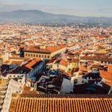 Cityscapepanorama av i Florence, Tuscany, Italien Sikt från Flo Arkivfoton