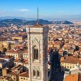Cityscapepanorama av i Florence, Tuscany, Italien Sikt från Flo Arkivfoto