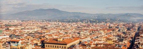 Cityscapepanorama av i Florence, Tuscany, Italien Sikt från Flo Royaltyfria Foton