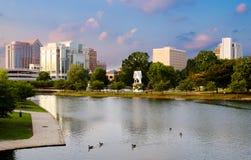 Cityscapeplats av i stadens centrum Huntsville, Alabama royaltyfria foton