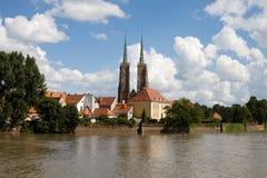 cityscapepoland wroclaw arkivbilder