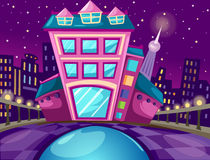 Cityscapes. Illustration of cartoon colorful cityscapes Stock Photos