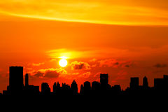 Cityscapes. Bangkok cityscapes view in evening stock photography