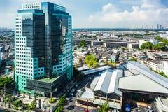 Cityscapes, die Klongtoey inbouwen in Rama 4 weg Bangkok Thailand stock afbeeldingen
