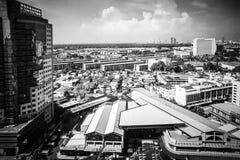 Cityscapes, die Klongtoey inbouwen in Rama 4 weg Bangkok Thailand royalty-vrije stock fotografie