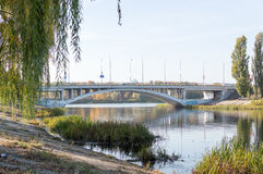 Cityscapes. Early autumn in the city, near the water treatment plant Royalty Free Stock Photo