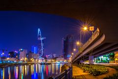 Cityscapes of Hochiminh city, Vietnam. HOCHIMINH CITY- VIETNAM: Cityscapes of Hochiminh city, Vietnam. This is the biggest city in Vietnam royalty free stock photos