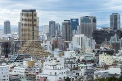 Cityscapes of Kobe in winter Skyline, office building and downtown of Kobe Bay, Japan, Kobe has been an important port city. Cityscapes of Kobe city in winter stock photos