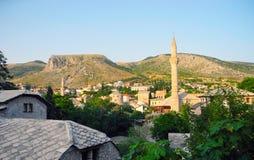 Cityscapes of Mostar, Bosnia and Herzegovina. Royalty Free Stock Image