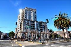 Cityscapes of San Francisco. On a beautiful sunny day, near AT&T Park stadium royalty free stock photos