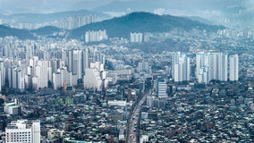 Cityscapes of Seoul City with modern office buildings and skyscr Stock Photos