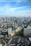 Cityscapes of tokyo in Fog after rain in winter season, Skyline. Of Bunkyo ward, Tokyo, Japan, Tokyo is the world& x27;s most populous metropolis and is stock image