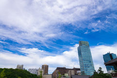 Cityscapes of tokyo. office building and downtown of tokyo in mi Royalty Free Stock Photos