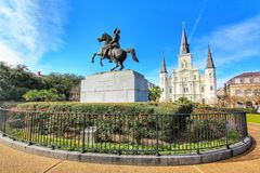 Cityscapes van Jackson Square in New Orleans stock afbeelding