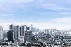 Cityscapes van Seoel, horizon, de hoge gebouwen van het stijgingsbureau en skyscr Royalty-vrije Stock Afbeelding
