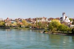 Cityscapesikt av Aarau, Schweiz Royaltyfri Bild