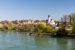 Cityscapesikt av Aarau, Schweiz Arkivbild