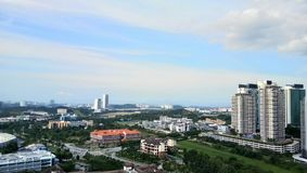 Cityscapesikt på cyberjayastaden, Royaltyfri Bild