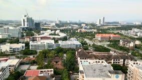 Cityscapesikt på cyberjayastaden, Royaltyfri Fotografi
