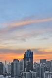 Cityscapetorn i Bangkok Royaltyfria Bilder