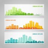 Cityscapeuppsättning Arkivfoto