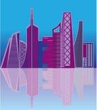 Cityscapevektor Arkivbild