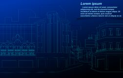 Cityscapewireframe vektor illustrationer
