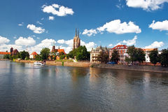 cityscapewroclaw Arkivfoto