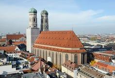 Cityscapse Monachium z Frauenkirche kościół Lokalizować następnie Obraz Royalty Free