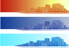 Citysccapes Banner Royalty Free Stock Photography