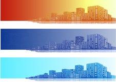 Citysccapes sztandar Fotografia Royalty Free