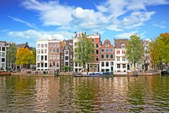 Cityscenic from Amsterdam at the Amstel in Netherlands. Cityscenic from Amsterdam at the Amstel in the Netherlands Stock Photos