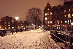 Cityscenic in Amsterdam the Netherlands Royalty Free Stock Photos