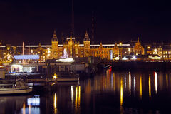 Cityscenic from Amsterdam Netherlands by night Stock Photo