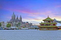 Cityscenic from Amsterdam in the Netherlands Stock Image