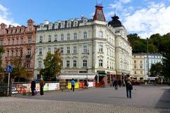 Cityscpae of Karovy Vary stock photos
