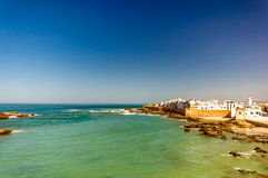Cityscpe av Essaouira i Marocko arkivbild