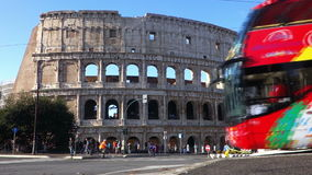 Cityseeing bus at Colosseum stock video