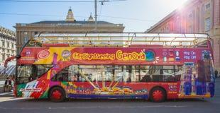 Citysightseeing Genova Autobusowa genua, Włochy fotografia stock