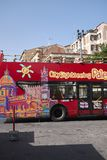 Citysightseeing turnerar bussen royaltyfri foto