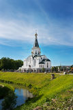 Cityskape with church of St. Alexander Nevsky Stock Photo