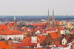 Cityskape of Wroclaw, Poland Stock Image