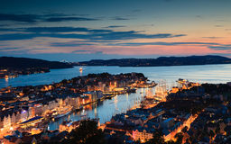 Cityspace of Bergen on July 25, 2014 in Norway Stock Images