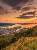 Cityspace of Bergen, panoramic view Royalty Free Stock Photography