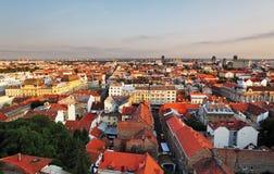 Cityspace de Zagreb foto de archivo