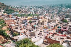 Cityspace from Nahargarh Fort in Jaipur, India. City view from Nahargarh Fort in Jaipur, India stock photo