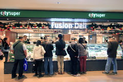 Citysuper fusion deli shop in hong kong Stock Photo