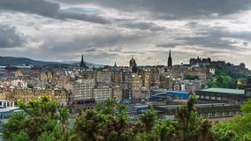 Cityview Эдинбурга стоковое изображение rf